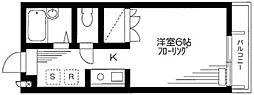 東京都品川区東大井6丁目の賃貸アパートの間取り