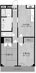 神奈川県川崎市多摩区菅3丁目の賃貸マンションの間取り