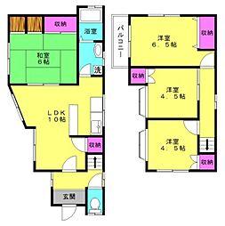 [一戸建] 兵庫県高砂市中筋5丁目 の賃貸【/】の間取り