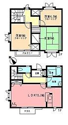 [テラスハウス] 神奈川県横浜市都筑区川和台 の賃貸【/】の間取り