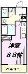 埼玉県所沢市くすのき台3丁目の賃貸アパートの間取り