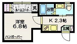 JR山手線 渋谷駅 徒歩5分の賃貸マンション 3階1Kの間取り
