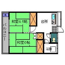 笹丘荘[103号室]の間取り