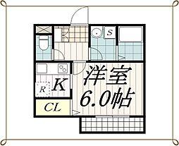 リブリ・黒砂台[2階]の間取り