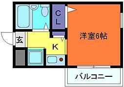 ダイドーメゾン青木[3階]の間取り