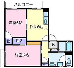 シャルマン島泉A棟[2階]の間取り