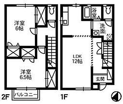 [タウンハウス] 岡山県倉敷市中島 の賃貸【/】の間取り