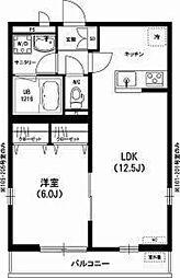 埼玉県三郷市新和2丁目の賃貸アパートの間取り