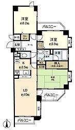 コアマンション植物園[1階]の間取り