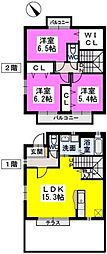 [テラスハウス] 福岡県福岡市東区香椎駅東3丁目 の賃貸【/】の間取り