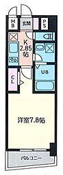 福岡市地下鉄空港線 博多駅 徒歩10分の賃貸マンション 4階1Kの間取り