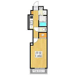 スカイグレード扇[4階]の間取り