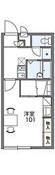 レオパレス エクセル2[1階]の間取り