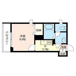 (仮)緑区橋本5丁目シャーメゾン 2階1Kの間取り