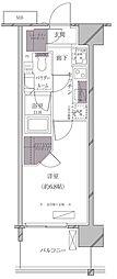 JR山手線 田町駅 徒歩11分の賃貸マンション 5階1Kの間取り