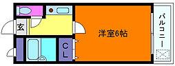 ハイジ岡本II[2階]の間取り