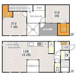 [一戸建] 福岡県福岡市早良区室見3丁目 の賃貸【/】の間取り