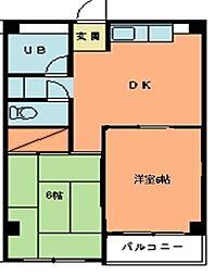 第2城西ビル[202号室]の間取り
