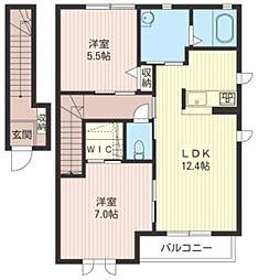 イースト・コートII[2階]の間取り