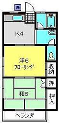 コーポひまわり[3階]の間取り