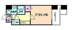 アドバンス東梅田アクシス[12階]の間取り