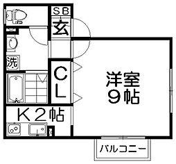 マ・メゾン寝屋川[1階]の間取り