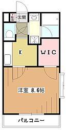 TEEZ久米川[1階]の間取り