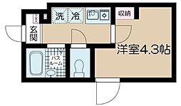 JR中央線 高円寺駅 徒歩10分の賃貸アパート 1階1Kの間取り