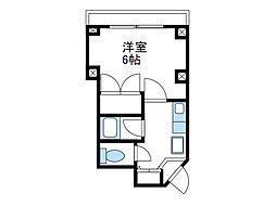 神奈川県相模原市南区相武台3丁目の賃貸マンションの間取り