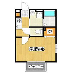 グレース青戸[1階]の間取り
