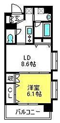 日神デュオステージ大宮浅間町[407号室]の間取り