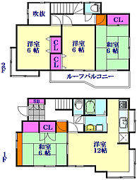 JR高崎線 北鴻巣駅 徒歩28分の賃貸一戸建て 1階4LDKの間取り
