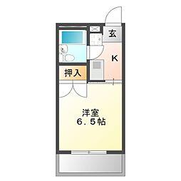 愛知県豊橋市弥生町字東豊和の賃貸アパートの間取り