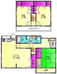 [一戸建] 福岡県福岡市早良区原1丁目 の賃貸【/】の間取り