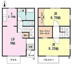[テラスハウス] 東京都練馬区平和台4丁目 の賃貸【/】の間取り