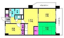 加古川グリーンシティA棟[303号室]の間取り