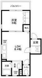 (仮称)大田区南雪谷2丁目計画 2階1LDKの間取り