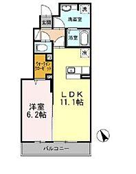 東武東上線 ときわ台駅 徒歩10分の賃貸アパート 1階1LDKの間取り