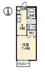 アベニュー・下ノ瀬 B[1階]の間取り