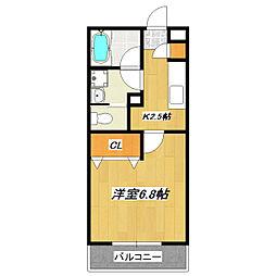La  Danduru[2階]の間取り