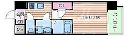 JR東海道・山陽本線 岸辺駅 徒歩4分の賃貸マンション 7階1Kの間取り