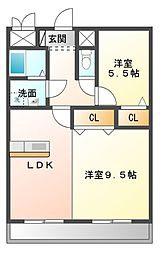 ソレーユ岡崎[5階]の間取り