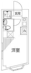 ビッグ武蔵野国分寺 5階ワンルームの間取り