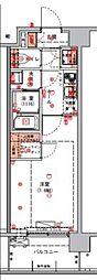 ハーモニーレジデンス東京アーバンスクエア#002 6階1Kの間取り