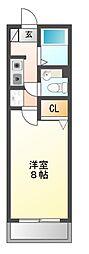 愛知県豊橋市大崎町字浪入向の賃貸アパートの間取り
