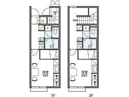 レオパレスボヌール[1階]の間取り