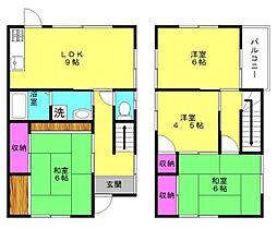 [一戸建] 兵庫県加古川市加古川町北在家 の賃貸【/】の間取り