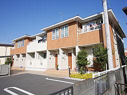 神奈川県座間市ひばりが丘2丁目の賃貸アパートの外観