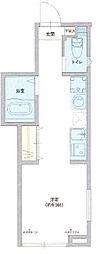仮称 足立区西伊興1丁目新築アパート 2階ワンルームの間取り