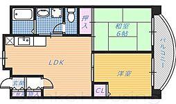 ディーセント北花田[4階]の間取り